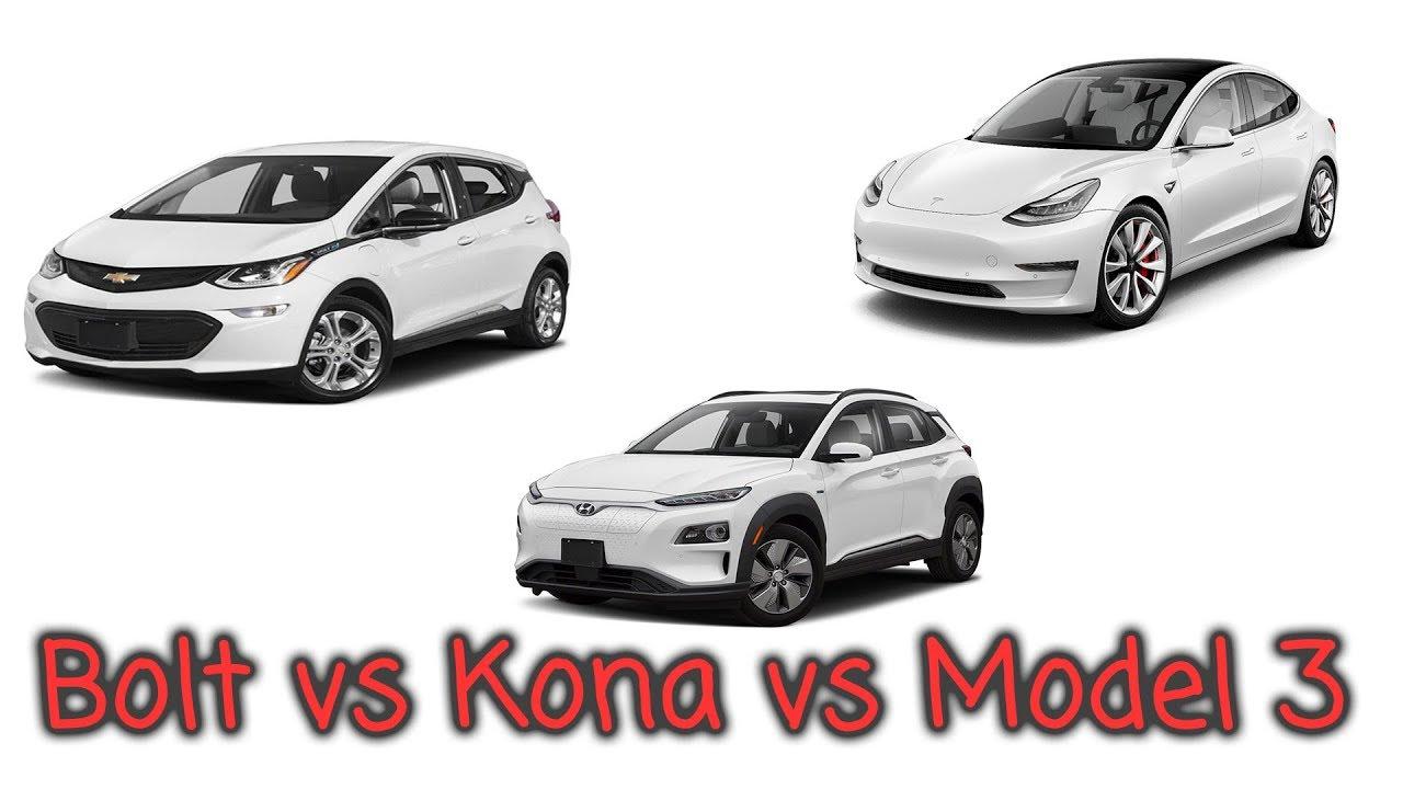 $40k EV drive compare Chevy Bolt vs Hyundai Kona EV vs ...