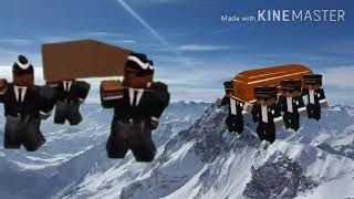 Roblox and Minecraft coffin dance meme