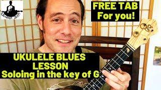 ZEN UKE TECHNIQUES #7: Blues Solo in 3rds FREE TAB