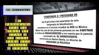 ▶DE PELICULA - programa de TV de cine - Maracana La Película / Noe / Sabotage / El sobreviviente