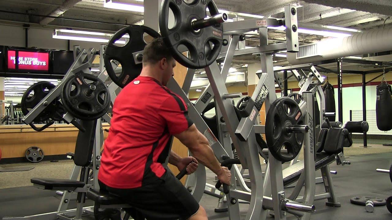 Hammer strength single arm row