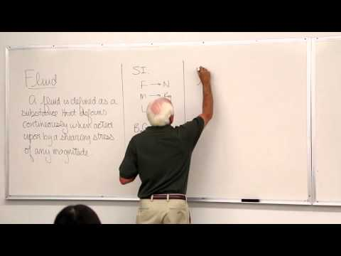 Fluid Mechanics: Fundamental Concepts, Fluid Properties (1 of 18)