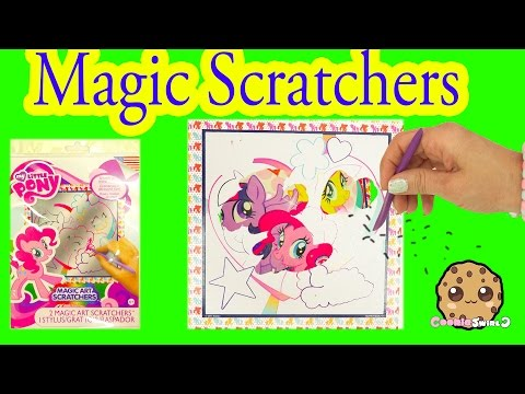 My Little Pony Magic Art Scratchers Kit With MLP Twilight, Pinkie , Fluttershy - Cookieswirlc