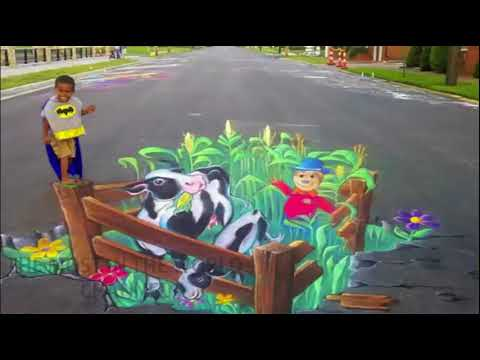 Amazing 3D Street Art Illusions ||That Cleverly Interact With Nature||amazing street art