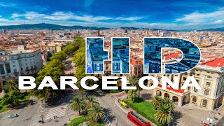 BARCELONA , CATALONIA , SPAIN - A WALKING TRAVEL TOUR - HD 1080P