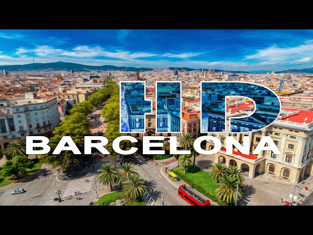 BARCELONA , CATALONIA , SPAIN - A WALKING TRAVEL TOUR - HD 1080P Travel Video