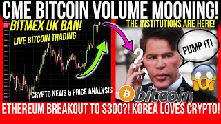 CME BITCOIN VOLUME MOONS! BTC Bullish! ETHEREUM ANALYSIS! Crypto News & Bitcoin TA