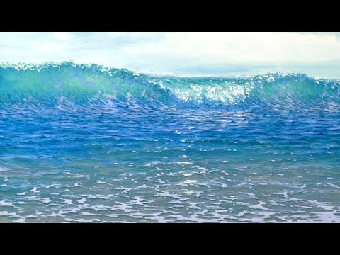How To Paint A Beach Wave - Acrylics - NEW!