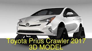 3D Model of Toyota Prius Crawler 2017 Review