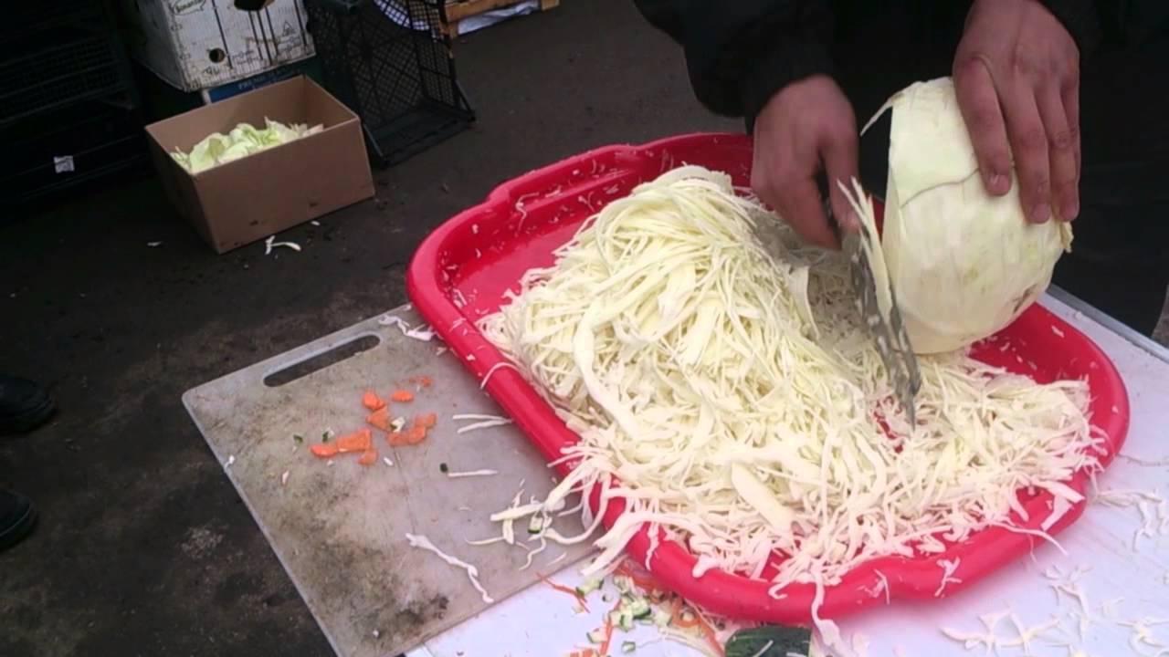 Нож для шинковки капусты и овощей - YouTube