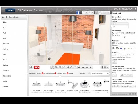 Bathroom Design Online Planner Tool