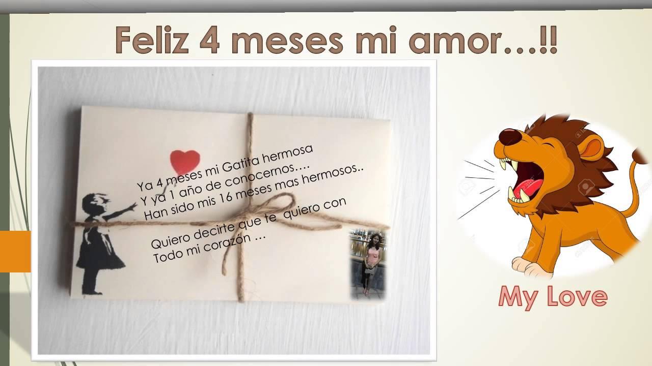 Página 3 De 4: Feliz 4 Meses Mi Amor