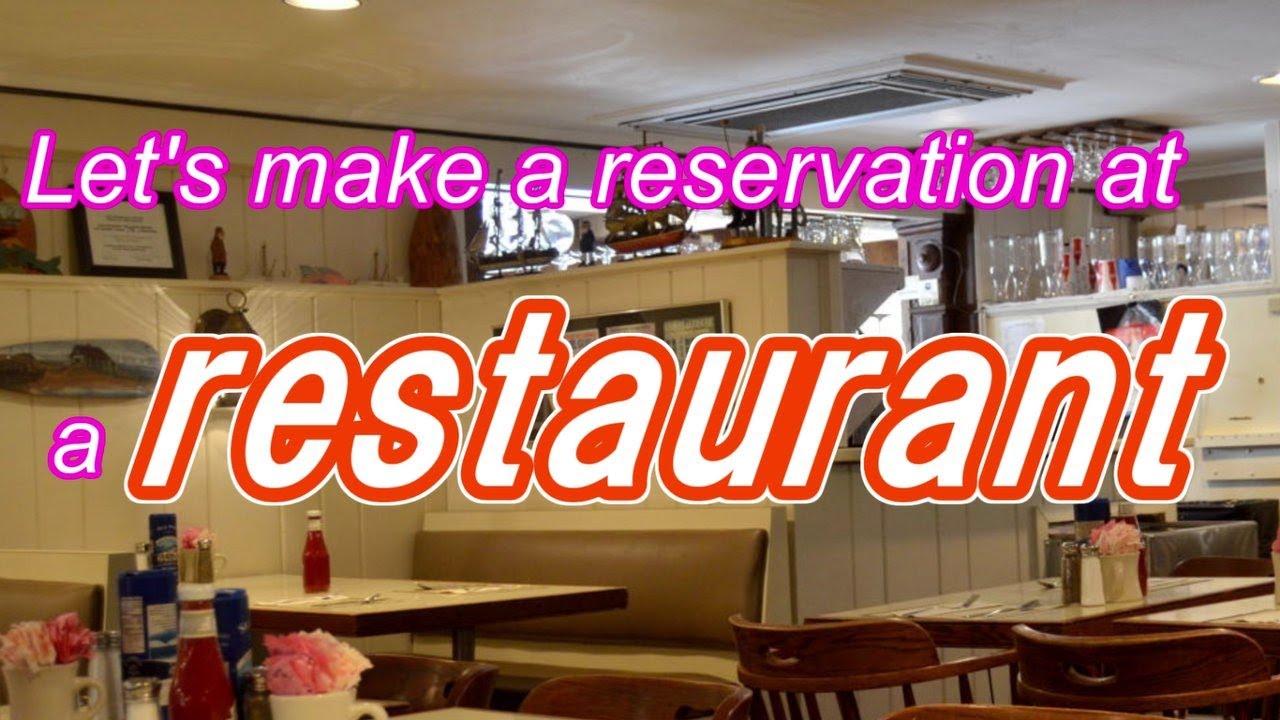 Make A Reservation At Restaurant Japanese Conversation Lesson