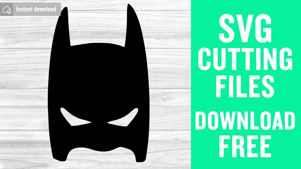 Batman Mask Svg Free Cut Files For Silhouette Free Download Youtube