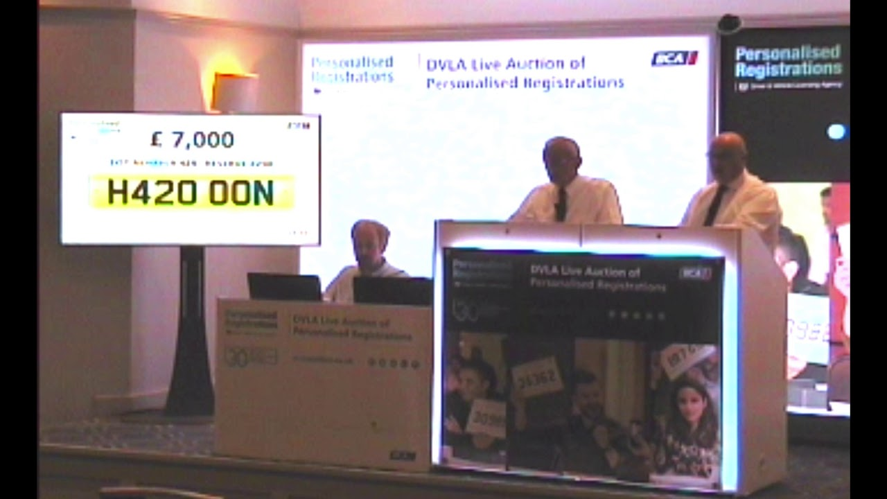 h412 oon sold at dvla auction for a hefty sum youtube youtube