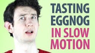 Irish People Taste Test Eggnog (in Slow Motion)
