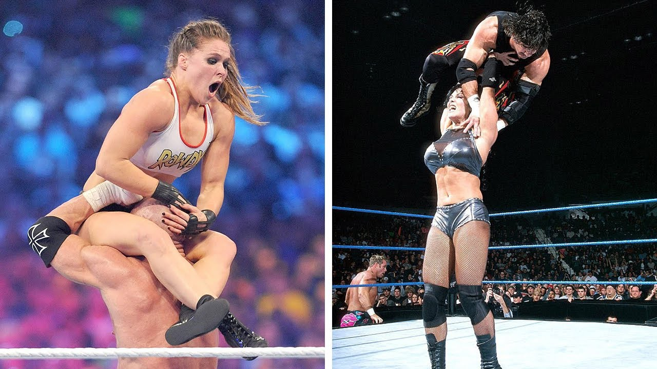 Download 10  Man vs Woman WWE Matches We Won't Ever See Again