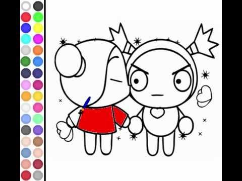 Juego Colorear Beso de Pucca - YouTube