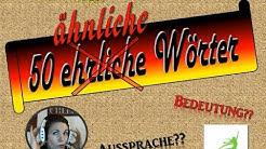 Deutsch: 50 ähnliche Wörter - leicht verwechselbar - Aussprache (german/tedesco/duits/allemand/tysk)
