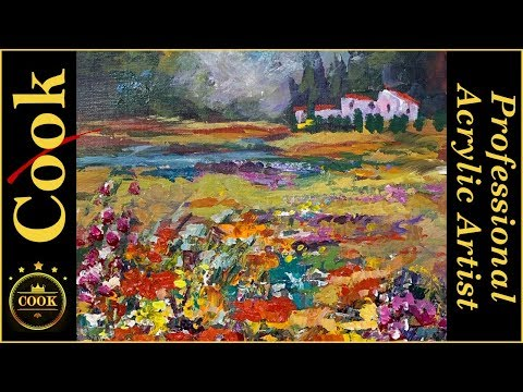 How to Paint Impasto Poppies in Acrylics without a Palette Knife