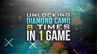 """DIAMOND CAMO 8 TIMES IN 1 GAME! ALL DLC GUNS """"DARK MATTER"""" (Black Ops 3 DARK MATTER CAMO)"""