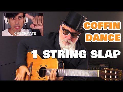 COFFIN DANCE ONE STRING GUITAR VS. SLAP LEVEL 99!