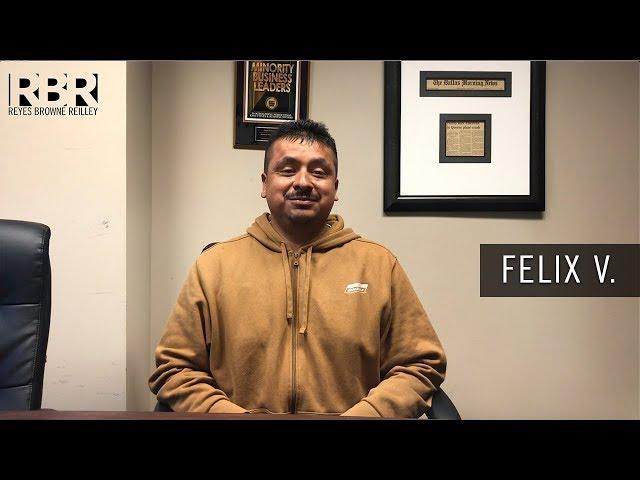 Felix V - Recomendación de Cliente para Abogado de Accidente Angel Reyes