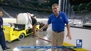 Ron Futrell Helps Lay Ice Down at T-Mobile Arena Sept 2017