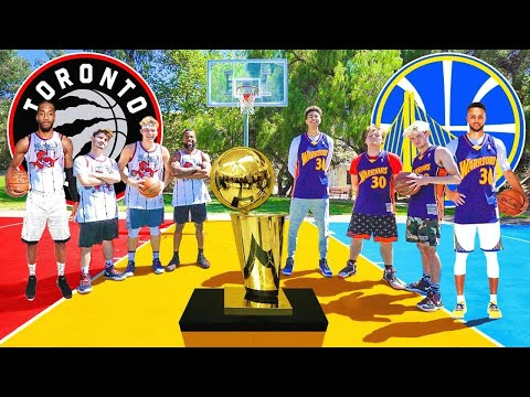 Raptors vs Warriors NBA FINALS Basketball challenges