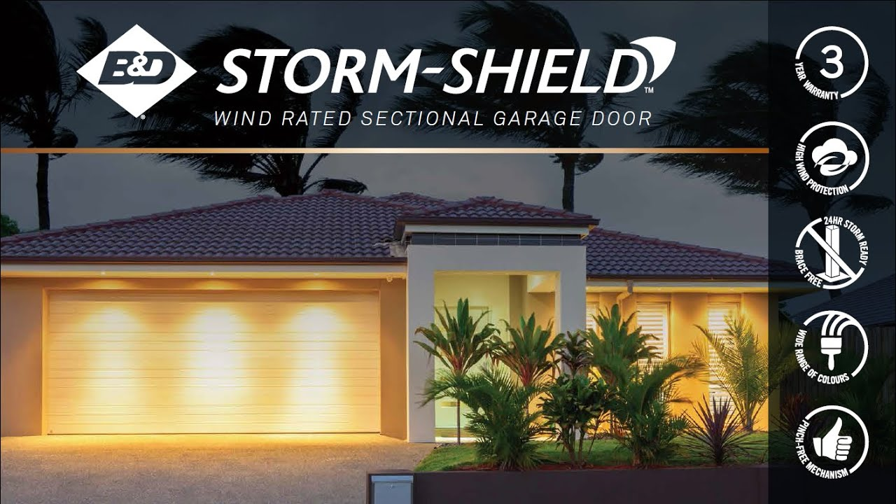 Bd Storm Shield Wind Rated Sectional Garage Door Youtube