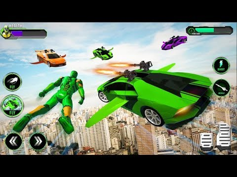 Robot Car Fighting Game - Flying Robot Car Simulator | Android GamePlay HD