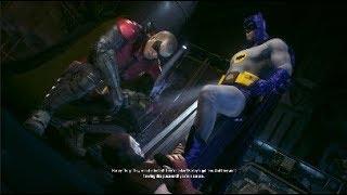 batman and robin vs harly quinn - batman arkham knight