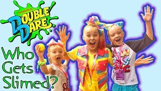 Meeting JoJo Siwa in Real Life at Nickelodeon Double Dare! Who Gets Slimed? VidCon 2018