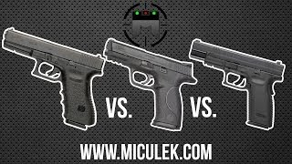 Glock vs M&P vs XD comparison with world champion shooter, Jerry Miculek
