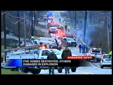 WV Gas Pipeline Explosion 5pm Coverage
