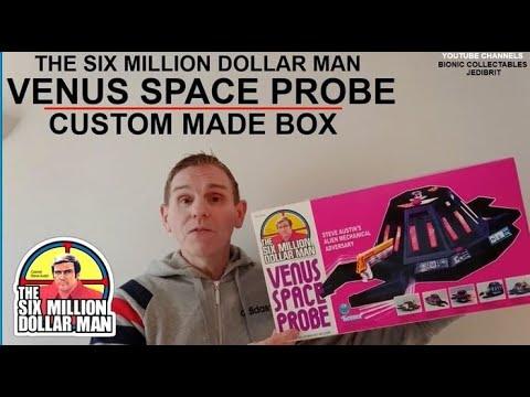 KENNER THE SIX MILLION DOLLAR MAN VENUS SPACE PROBE TOY FIGURE THE BIONIC MAN  DENYS FISHER RARE