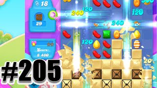 Candy Crush Soda Saga Level 205 | Complete! No Booster!