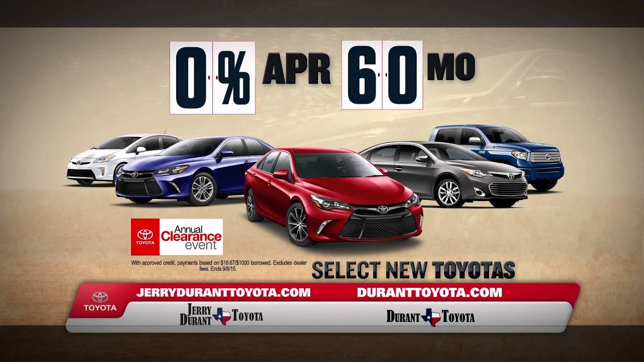 Jerry Durant Toyota Toyota s Annual Clearance Event