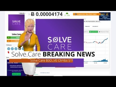 Cryptocurrency Solve.Care $SOLVE Climbs 51% In the Past Day 7