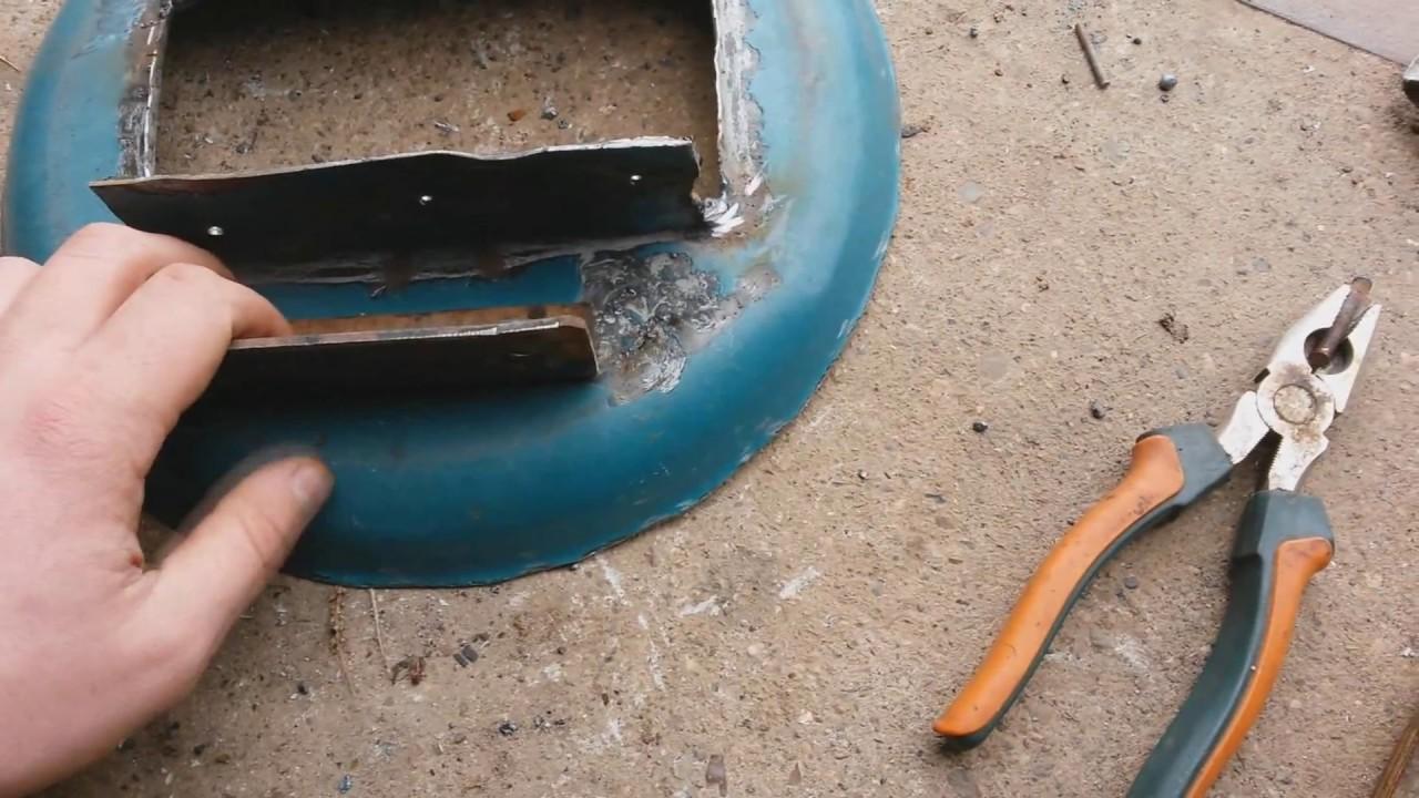 Ремонт части воздуховода на камазе
