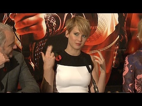 Jennifer Lawrence says she gets nervous at movie premieres (The Hunger Games: Catching Fire, London)