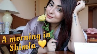 An entire morning routine in less than 5 minutes 🌼 Breakfast and GRWM in Shimla | Muskan Chanchlani