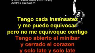 Andres Calamaro - 5 Minutos Mas - Minibar - Karaoke