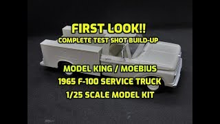 Model King Moebius 1965 F-100 Service Truck 1/25 Scale Model FIRST LOOK 1235