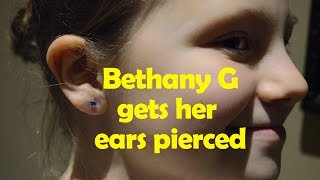 Getting My Ears Pierced - Does It Hurt? | Bethany G