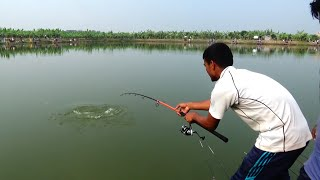 Awesome Catla Fishing Videos By Young Fish Hunter In Village Pond
