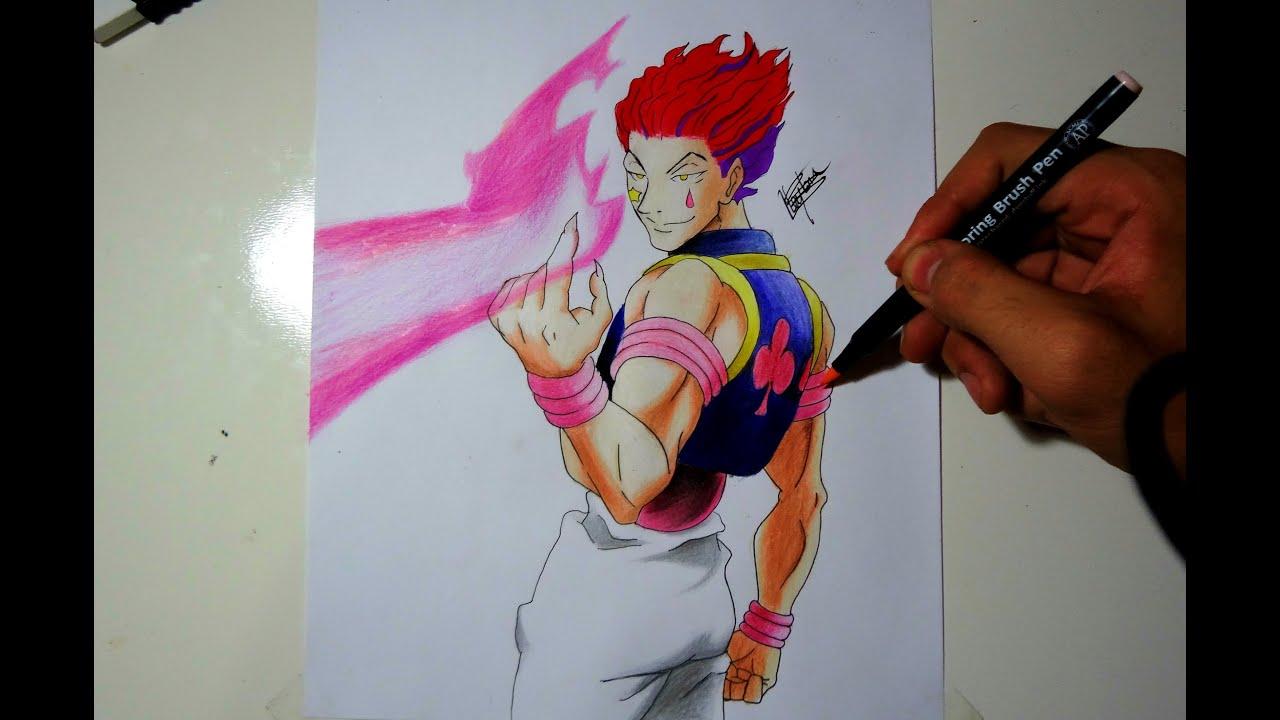 Drawing Hisoka From Hunter X Hunter Youtube