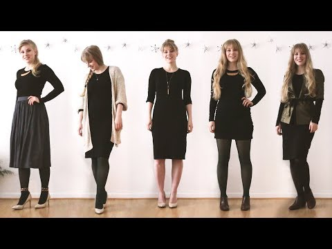 0f17f83c66 1 Dress 6 Ways | Wear the same dress to all your Holiday Parties - YouTube