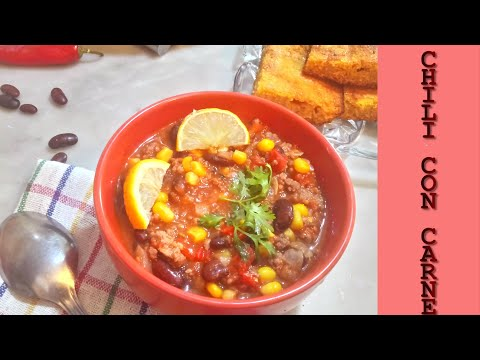 Chili Con Carne Recipe With Ground Beef (easy To Make Chili) | تشيلي كون كارني