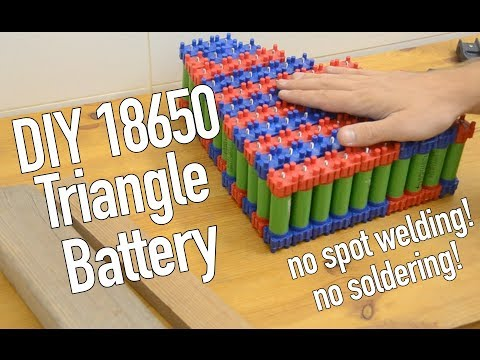How to Make a 52V 20Ah Triangle Battery with 18650 Cells